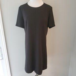 LOFT Black Short Sleeve Shift Dress